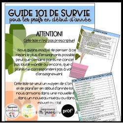 Guide 101 pour le début de l'année