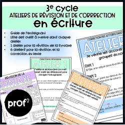 Écriture- Ateliers de correction