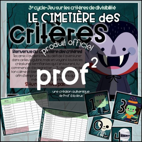 3E CYCLE-Le cimetières des critères