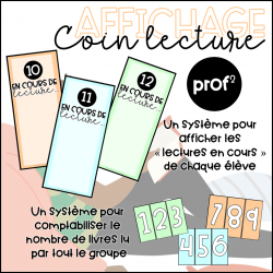 Affichage-Coin lecture