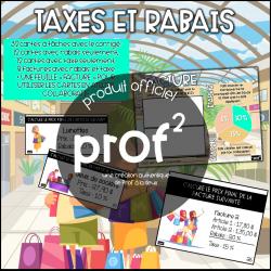 Taxes et rabais-Cartes à tâches et atelier