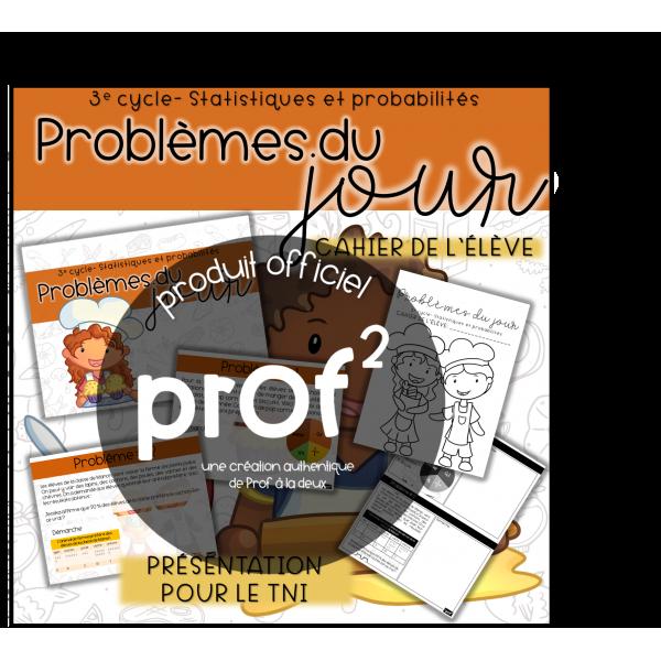 3E CYCLE- Problèmes du jour-Stat. et probabilités
