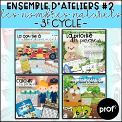 3E CYCLE- Ateliers nombres naturels #2