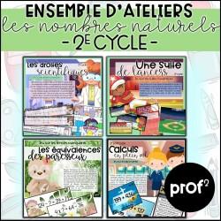 2E CYCLE- Ateliers nombres naturels