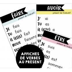 Affiches de verbes au présent