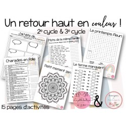 Cahier passe-temps