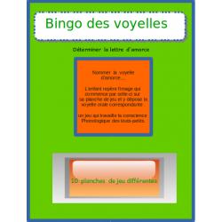 Bingo des voyelles