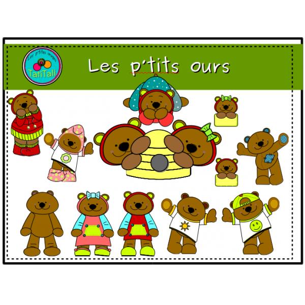 Les p'tits ours: clip arts