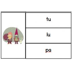 Cartes à pinces:  trouve la bonne syllabe!