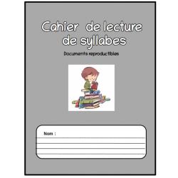 Cahier de lecture de syllabes