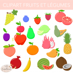 Clip art - Fruits et légumes