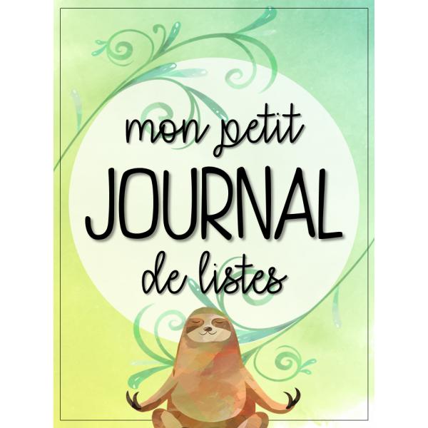 Le petit journal de listes -Paresseux