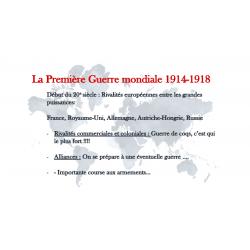 Première Guerre mondiale univers social