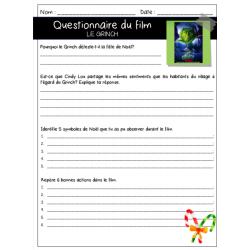 Le Grinch - Questionnaire ECR