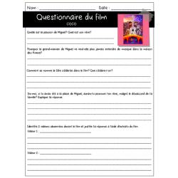 Coco -Questionnaire de film -ECR
