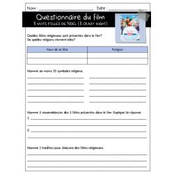 8 nuits folles  - Questionnaire- ECR