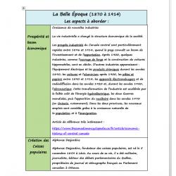 Planification annuelle Univers social 6e année