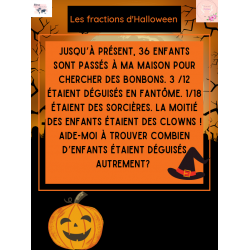 Fraction spécial Halloween