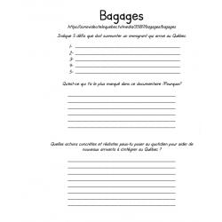 Questionnaire pour le documentaire « Bagages » ECR