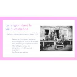 La religion en 1820