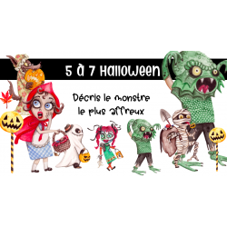 5 à 7 écriture d'Halloween