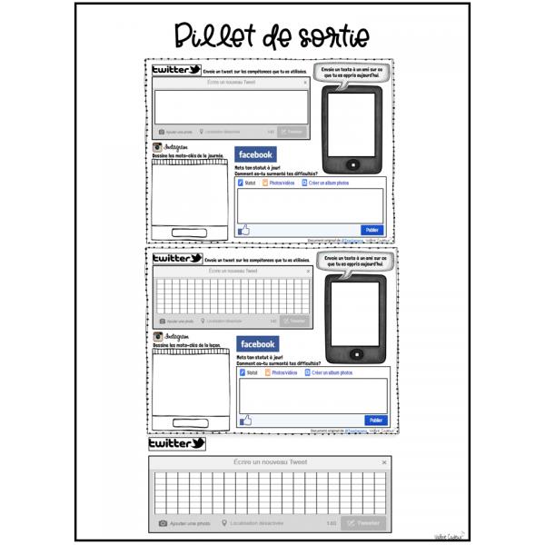Billet de sortie réseaux sociaux
