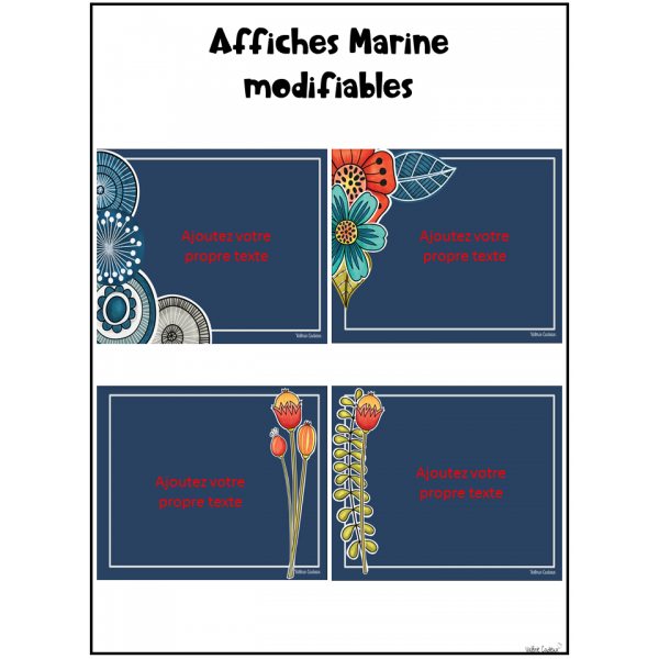 Affiches marine modifiables