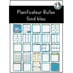 Planificateur Bulles fond bleu