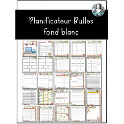 Planificateur Bulles fond blanc