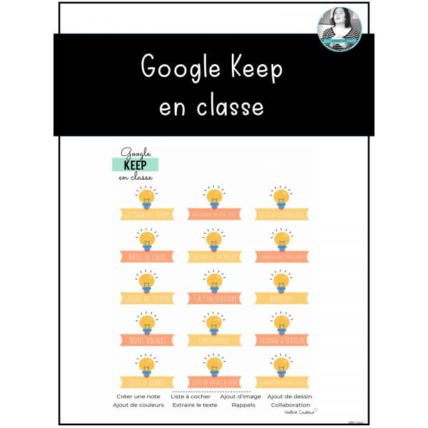 Google Keep en classe