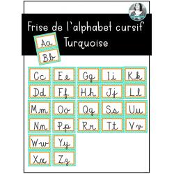 Alphabet cursif Turquoise