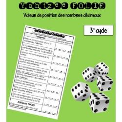 Yahtzee des nombres décimaux