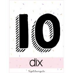 Affiches classe des chiffres 1 à 10