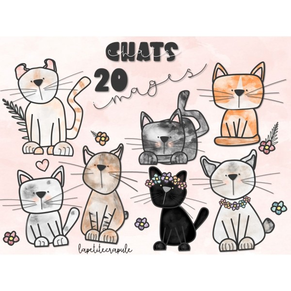 CLIPART- CHATS