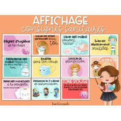 AFFICHAGE CLASSE: CONSIGNES SANITAIRES