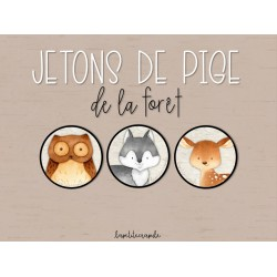JETONS DE PIGE DE LA FORÊT