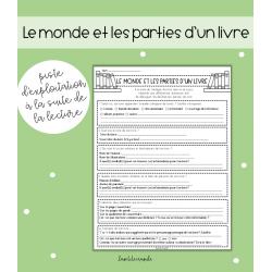 MONDE & PARTIE D'UN LIVRE