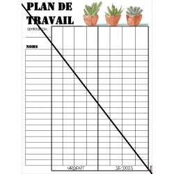 Plan de travail: Feuille de suivi