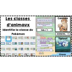 Identifier les classes d'animaux avec des Pokémon