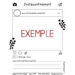Instaconfinement - Document à compléter