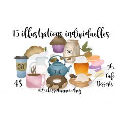 Cliparts Café Thé Desserts