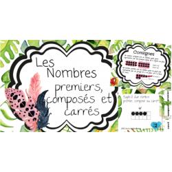 Les nombres premiers, composés ou carrés