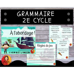 À l'abordage ! // 2e cycle // l'adjectif
