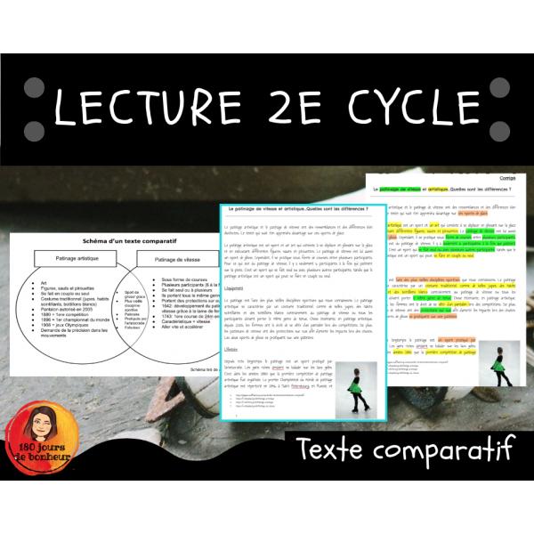 Texte comparatif // 2e cycle // Le patinage