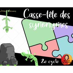 Casse-tête des synonymes