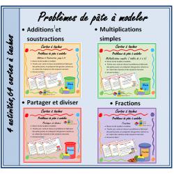 Problèmes de pâte à modeler, 4 activités