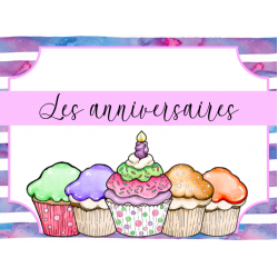 Anniversaires - Cupcakes