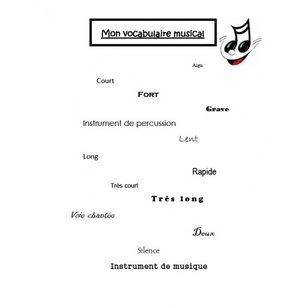 Vocabulaire musical