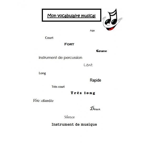 Vocabulaire musical