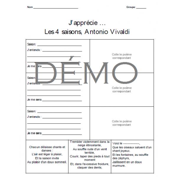 Appréciation - Les 4 saisons de Vivaldi